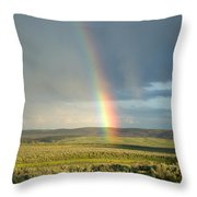 End Of The Rainbow Throw Pillow