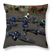 End Of The Ride Throw Pillow