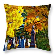 End Of The Road Impasto Throw Pillow