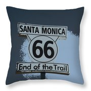 End Of The Trail 2 Throw Pillow
