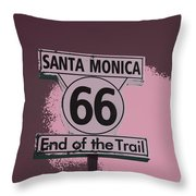 End Of The Trail 5 Throw Pillow
