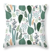End Of Winter Spring Thaw Garden Pattern Throw Pillow