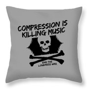 End The Loudness War Throw Pillow