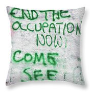End The Occupation Now Throw Pillow