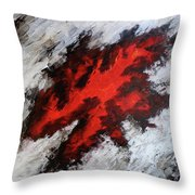 Endeavor Abstract Expressionism Throw Pillow