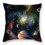 Endless Beauty Of The Universe Throw Pillow