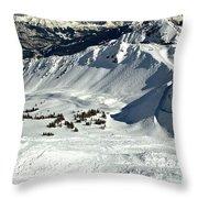 Endless Cpr Ridge At Kicking Horse Throw Pillow