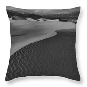 Endless Dunes Black And White Throw Pillow