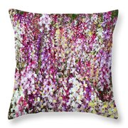 Endless Field Of Flowers Throw Pillow