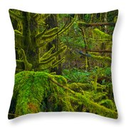 Endless Green Throw Pillow