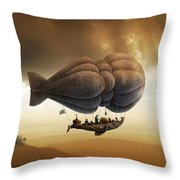 Endless Journey - Steampunk Incredible Adventure Throw Pillow