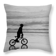 Endless Possibilities - Black And White Throw Pillow