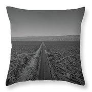 Endless Road Aerial Bw Throw Pillow