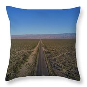 Endless Road Aerial  Throw Pillow