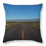 Endless Road  Throw Pillow