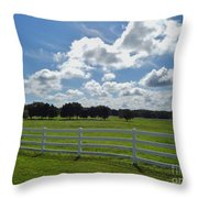 Endless Sky At The Farm Throw Pillow
