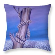 Endless Stillness Throw Pillow
