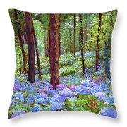 Endless Summer Blue Hydrangeas Throw Pillow