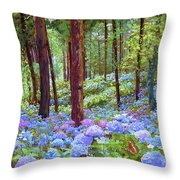 Endless Summer Blue Hydrangeas Throw Pillow