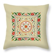 Enduring Love Floral Painting Throw Pillow