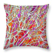 Energetic Abstract Throw Pillow