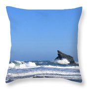 Energizing Waves Throw Pillow