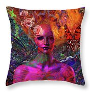 Energy Meridian Throw Pillow by Joseph Mosley