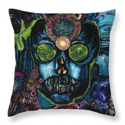 Energy Self Portrait Throw Pillow