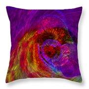 Energy Wave Throw Pillow
