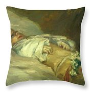 Enfant Mort Detail 1881 Throw Pillow