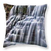 Lower Falls #4 Throw Pillow