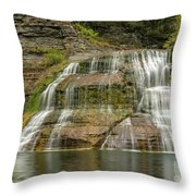 Enfield Falls Tompkins County New York Throw Pillow