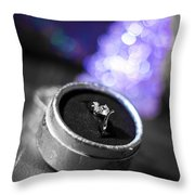 Engagement In Winter Throw Pillow