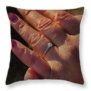 Engagement Ring Throw Pillow