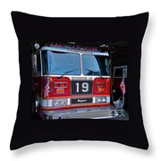 Engine 19 Throw Pillow