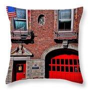 Engine 50 - Boston Throw Pillow