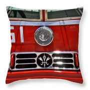 Engine 51 Grill Throw Pillow