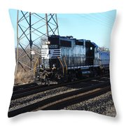 Engine 5664 Passing Bye Throw Pillow