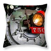 Engine 750 Throw Pillow