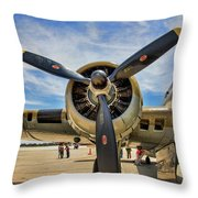 Engine B-17 Throw Pillow