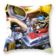 Engine Compartment 5 Throw Pillow