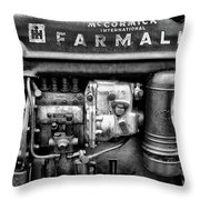 Engine - Farmall Tractor  Throw Pillow