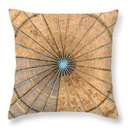 Engineered Wood Dome Throw Pillow