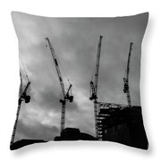 Engineering In London Throw Pillow