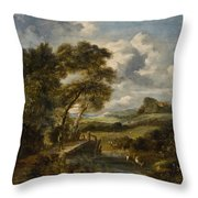England 19th Throw Pillow