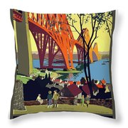 England And Scotland, Bridge Throw Pillow