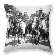 England: Cowboys, C1900 Throw Pillow