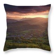 England, Cumbria, Lake District National Park Throw Pillow