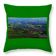 An Aerial Vision Of England Throw Pillow