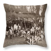 England: Hunters, C1905 Throw Pillow